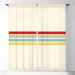 Brazilian Retro Stripes Blackout Curtain