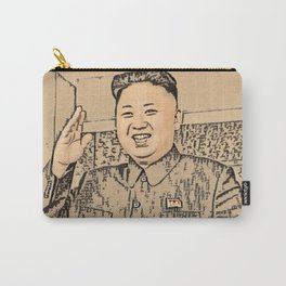 Kim Jong Un Artistic Illustration Ancient Oriental Draw Style Carry-All Pouch
