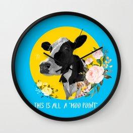 moo point Wall Clock
