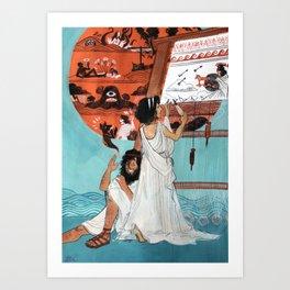 Odysseus Returned Home Art Print