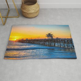 San Clemente Pier California United States Ultra HD Rug