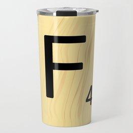 Scrabble F Decor, Scrabble Art, Large Scrabble Prints, Word Art, Accessories, Apparel, Home Decor Travel Mug