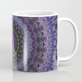 Floral mandala in violet and purple tones Coffee Mug