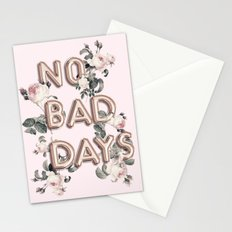 NO BAD DAYS - ROSEGOLD BALLOONS & ROSES Stationery Cards