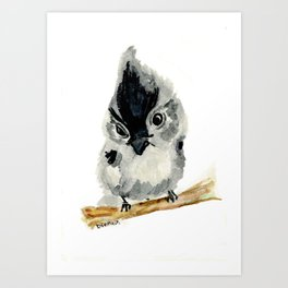 Judgy Little Bird Art Print
