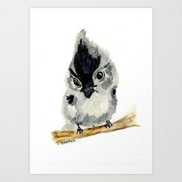 Judgy Little Bird Art Print
