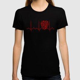 Chemistry Teacher Heartbeat T-shirt