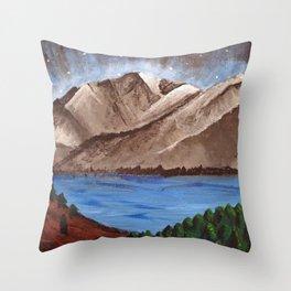 Serene Mountains Throw Pillow