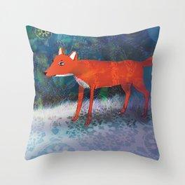 Fox friend Throw Pillow