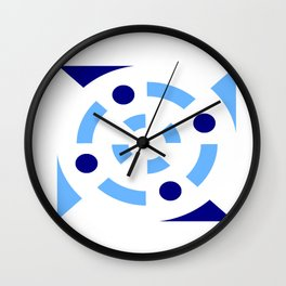 Circle and abstraction 12- blue abstract,geometric,geometrical,circle,sphere Wall Clock