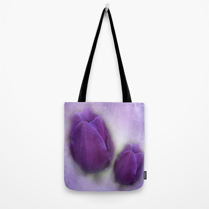 tulips on marble background Tote Bag