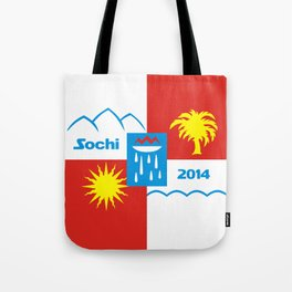 Sochi 2014 flag - Authentic version Tote Bag