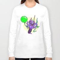 beaver Long Sleeve T-shirts featuring Streamer Beaver by melaphantastic