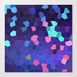 Mosaic in Blue, Turquoise and Pink Canvas Print