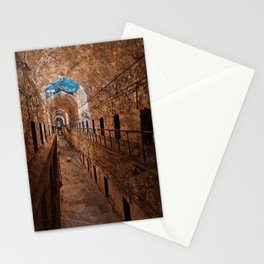 Prison Corridor - Sepia Blues Stationery Cards