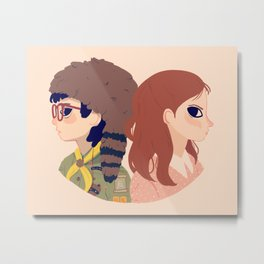 Sam and Suzy Metal Print