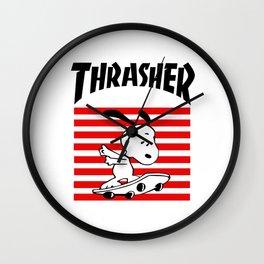 Trasher Snoopy Wall Clock