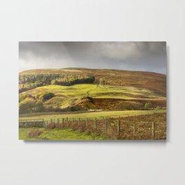 Harthorpe Valley Hills Metal Print