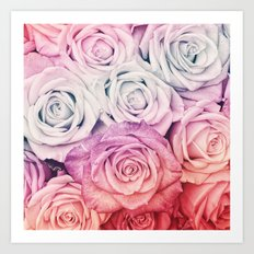 Some people grumble II  Floral rose flowers pink and multicolor Art Print