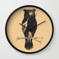 clouds Wall Clocks featuring I Have a Dream by Norman Duenas