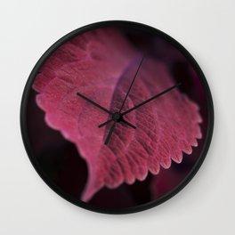 Coleus Pink Wall Clock