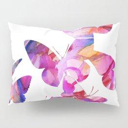 Pink Butterflies Pillow Sham