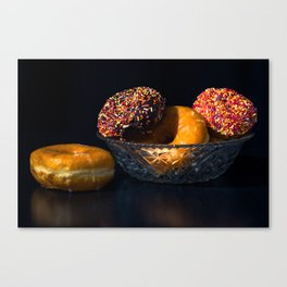 Donuts in Bowl Canvas Print