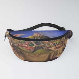 'The Dream of the Malinche' magical realism dream portrait painting by Antonio Ruiz Fanny Pack