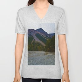 Kinney Flats on the Berg Lake Trail in British Columbia, Canada Unisex V-Neck