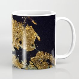 Space Station View of New York City at Night Photograph Coffee Mug