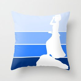 Waving the Waves Throw Pillow