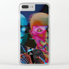 Royal jester girl Clear iPhone Case