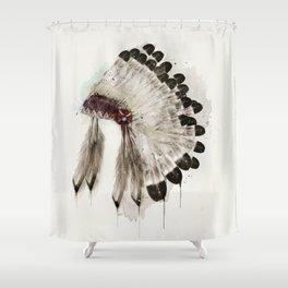 peace headdress Shower Curtain
