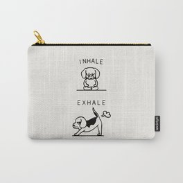 Inhale Exhale Beagle Carry-All Pouch