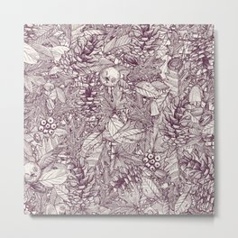 forest floor berry ivory Metal Print