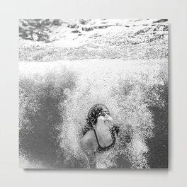 Bulles de piscine Metal Print