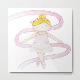 Little Ballerina Girl Metal Print