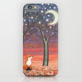 fox & fireflies iPhone Case