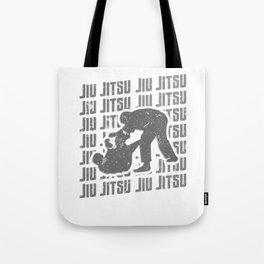 Jiu Jitsu Repeat Combat Grappler Silver Tote Bag