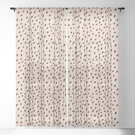 Peach spots and dots Sheer Curtain