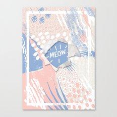 meow (wild cats)  Canvas Print