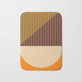 Geometric Abstract - Spring-Pantone Warm color Bath Mat