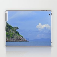Long boat along the coast Laptop & iPad Skin