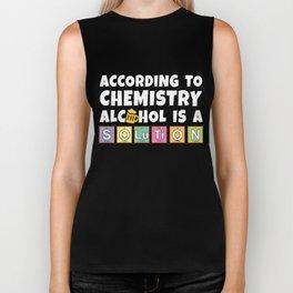 chemistry alcohol solution binge drinking JGA funny gift Biker Tank
