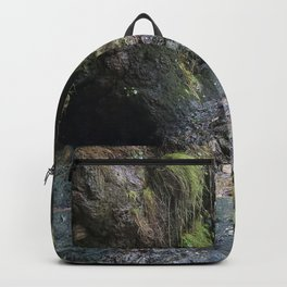 Moss Covered Cliff Face Backpack