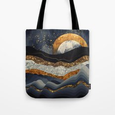 Metallic Mountains Tote Bag