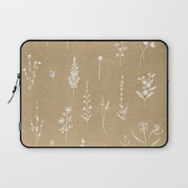 Wildflowers kraft Laptop Sleeve