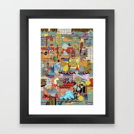Chaos 1 Framed Art Print