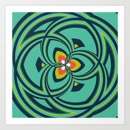 Spiral Rose Pattern A 4/4 Art Print