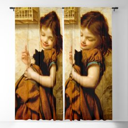 "Sophie Gengembre Anderson ""Her Favorite Pets"" Blackout Curtain"
